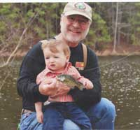 Wilson is passing on his love of the outdoors to his grandson, Luke.