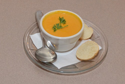 The Shrimp and Lobster Bisque is the perfect dish in cooler weather.