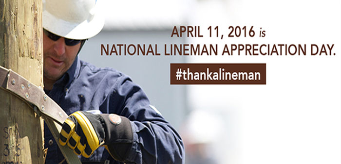 Have you hugged your lineman today?
