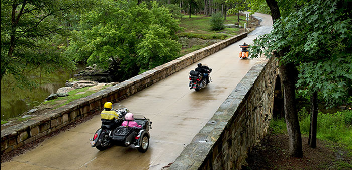 Let's ride! – See The Natural State on a motorcycle