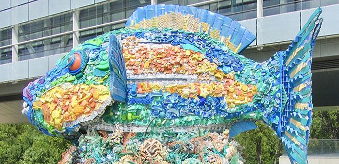Clinton Center exhibit features ocean refuse transformed into art